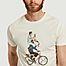 matière T-shirt imprimé en coton bio Cyclapero - Olow