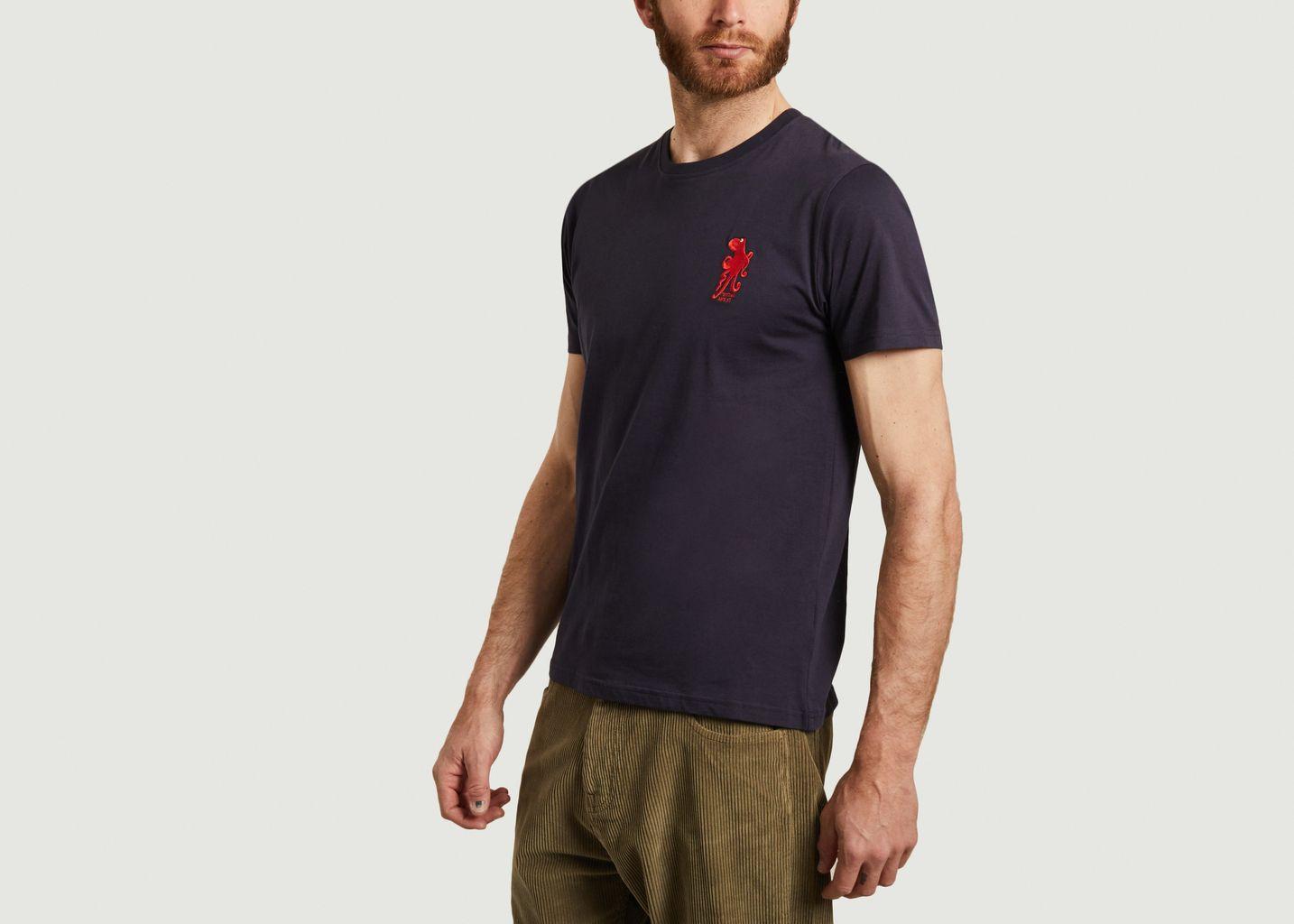 T-shirt en coton bio avec broderie Inktopus - Olow