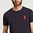 matière T-shirt en coton bio avec broderie Inktopus - Olow