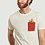 matière T-shirt en coton bio avec poche et imprimé Mamy - Olow