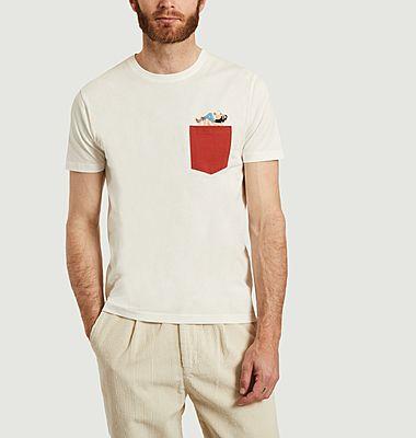 T-shirt avec poche et imprimé en coton bio Slam