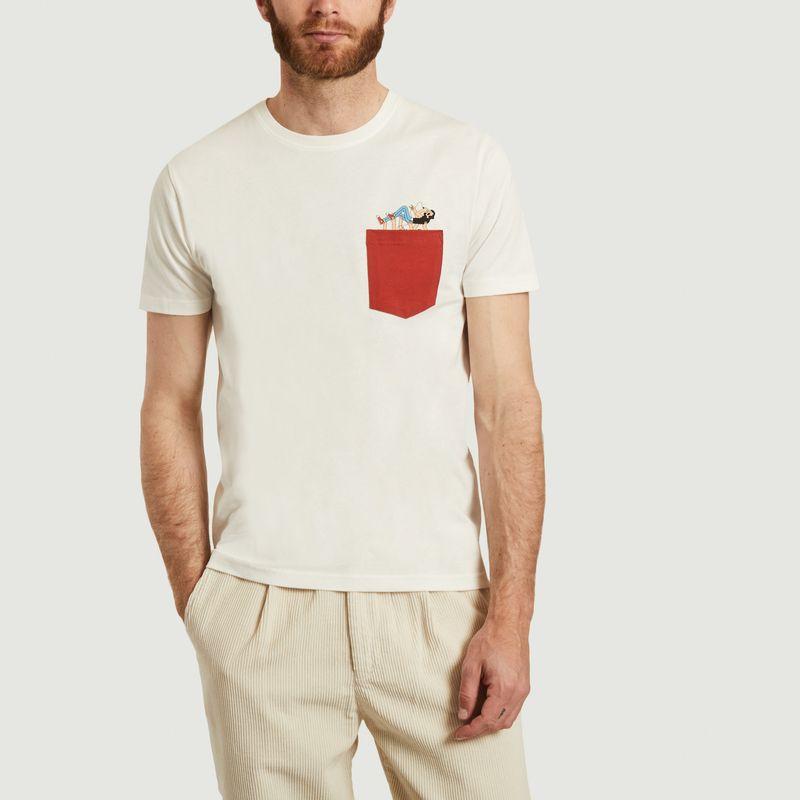 T-shirt avec poche et imprimé en coton bio Slam - Olow