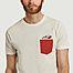 matière T-shirt avec poche et imprimé en coton bio Slam - Olow