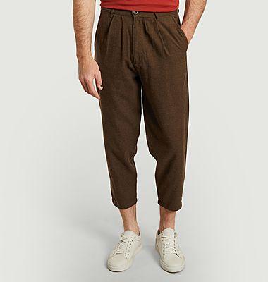 Pantalon en coton et laine 7/8e Swing