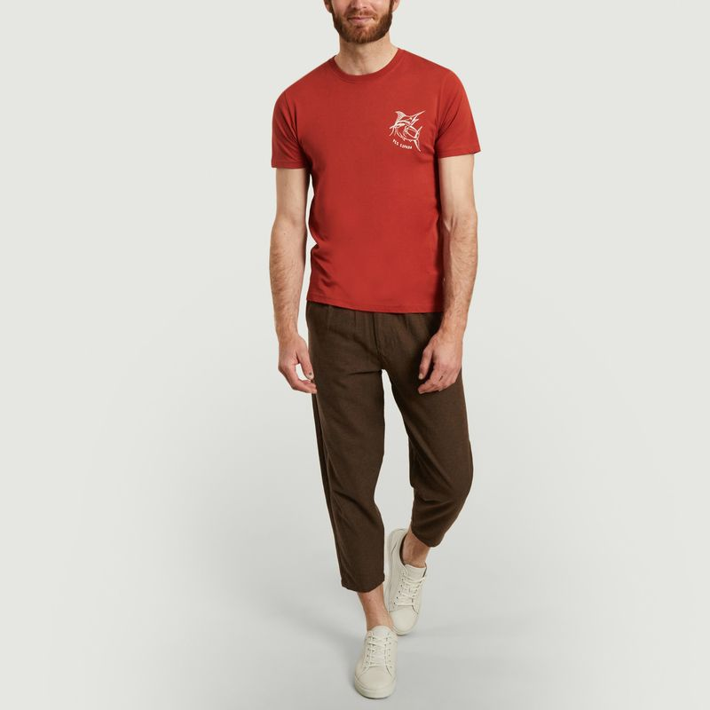 Pantalon en coton et laine 7/8e Swing - Olow