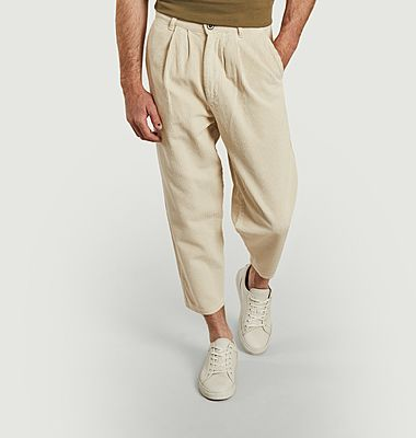 Pantalon en velours côtelé de coton bio 7/8e Swing
