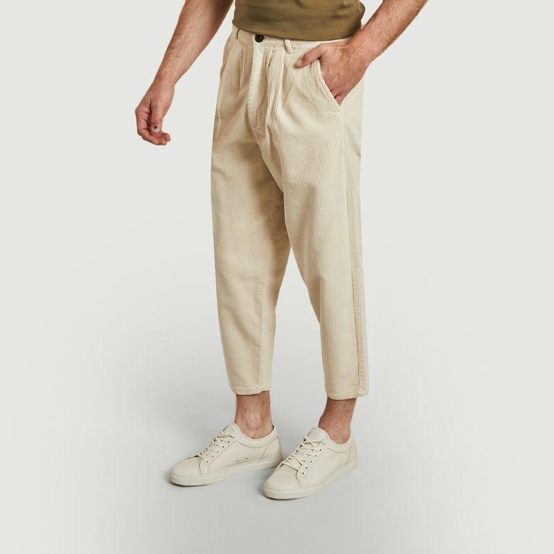 Pantalon en velours côtelé de coton bio 7/8e Swing - Olow