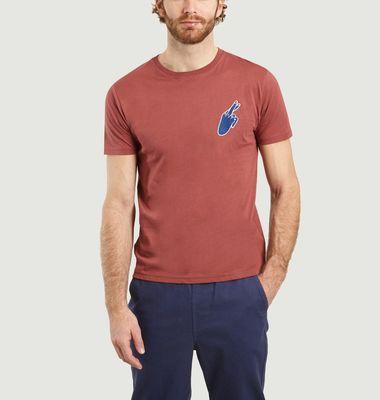 T-Shirt Blue Hand en Coton Bio