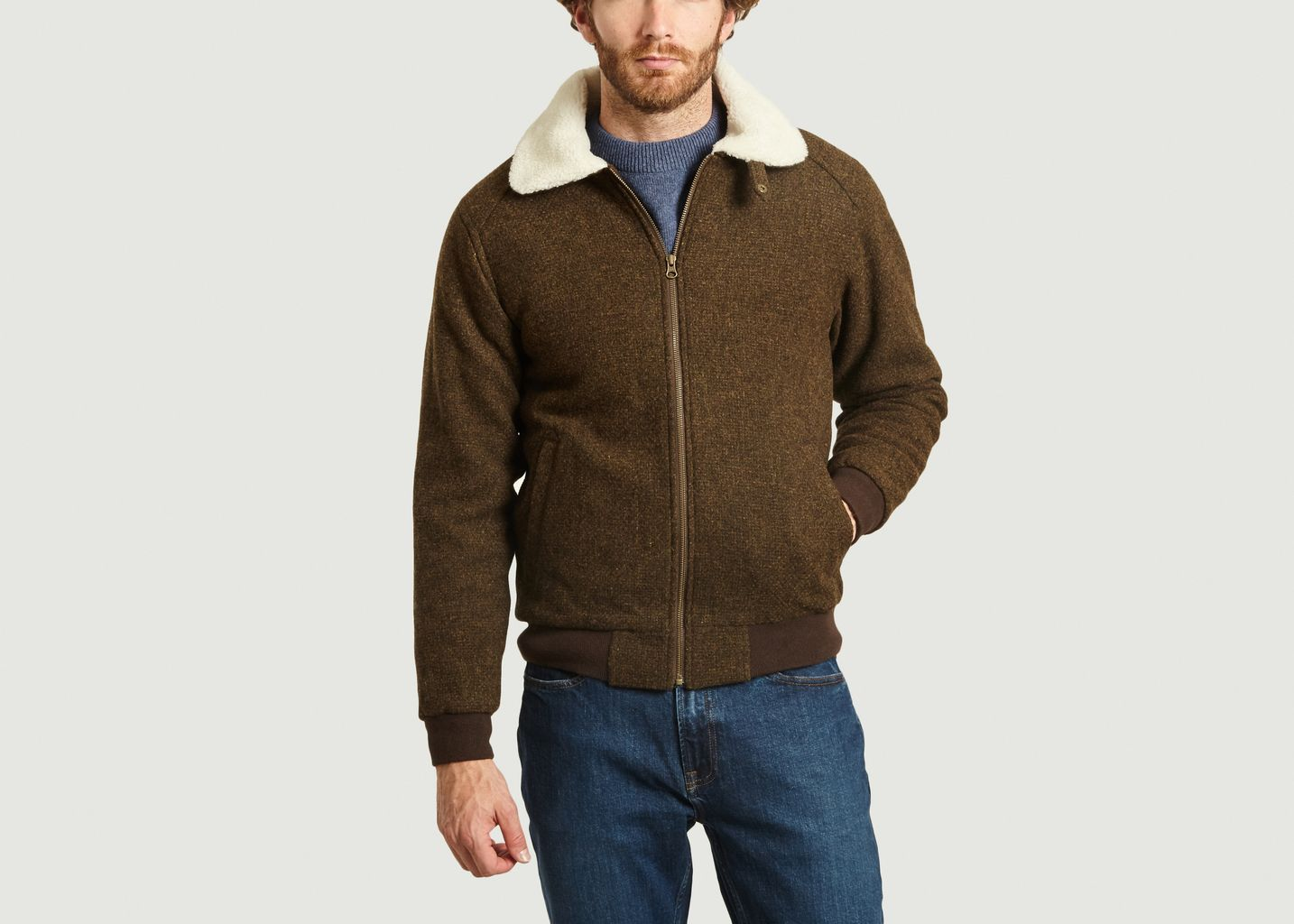 Blouson en drap de laine Wander - Olow
