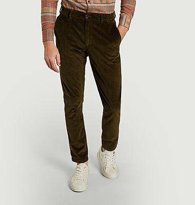 Pantalon chino en velours côtelé