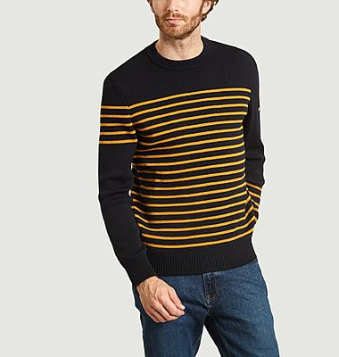 Drukkin Olow x Saint James striped virgin wool sweater