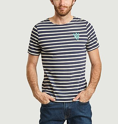 Sardines Olow x Saint James striped embroidered t-shirt