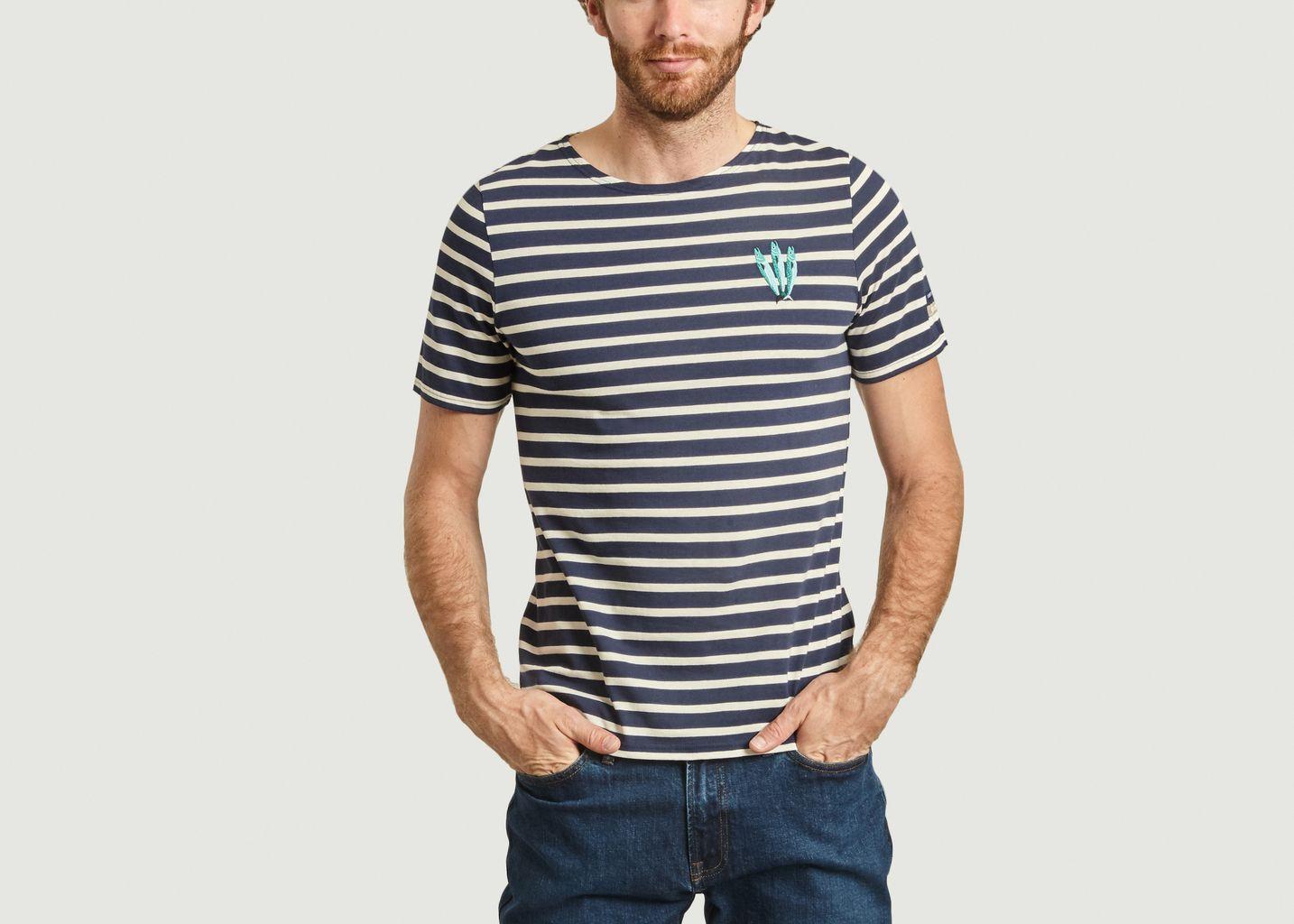 T-shirt rayé brodé Sardines Olow x Saint James - Olow