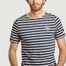 matière T-shirt rayé brodé Sardines Olow x Saint James - Olow