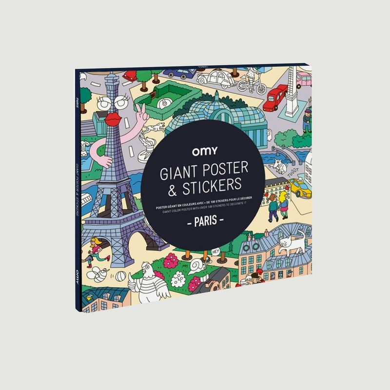 Poster Paris stickers - Omy