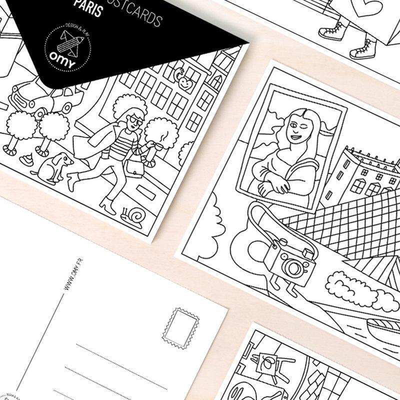 Carte Postale Paris - Omy