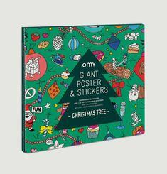 Xmas Tree Sticker Poster