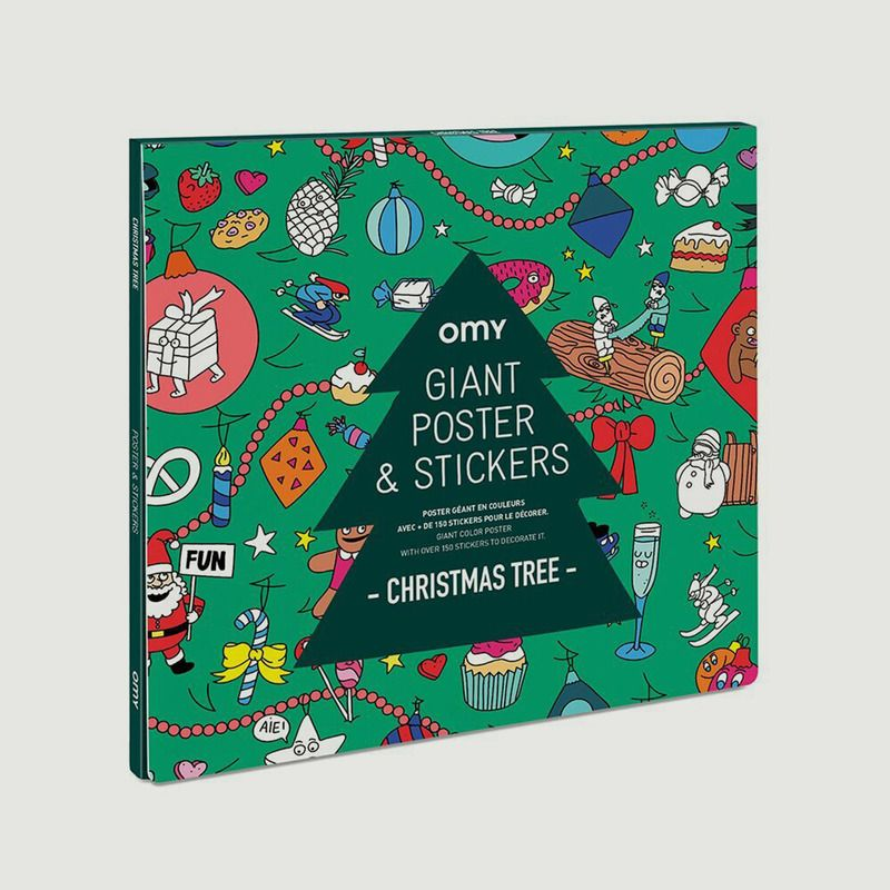 Poster à Sticker - Sapin de Noël - Omy