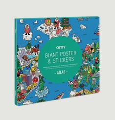 Poster Géant à Stickers Atlas