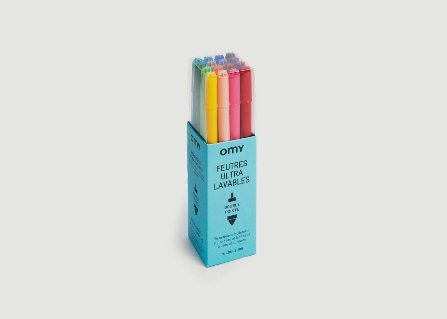 Boîte de 16 Feutres Ultra-Lavables - Omy