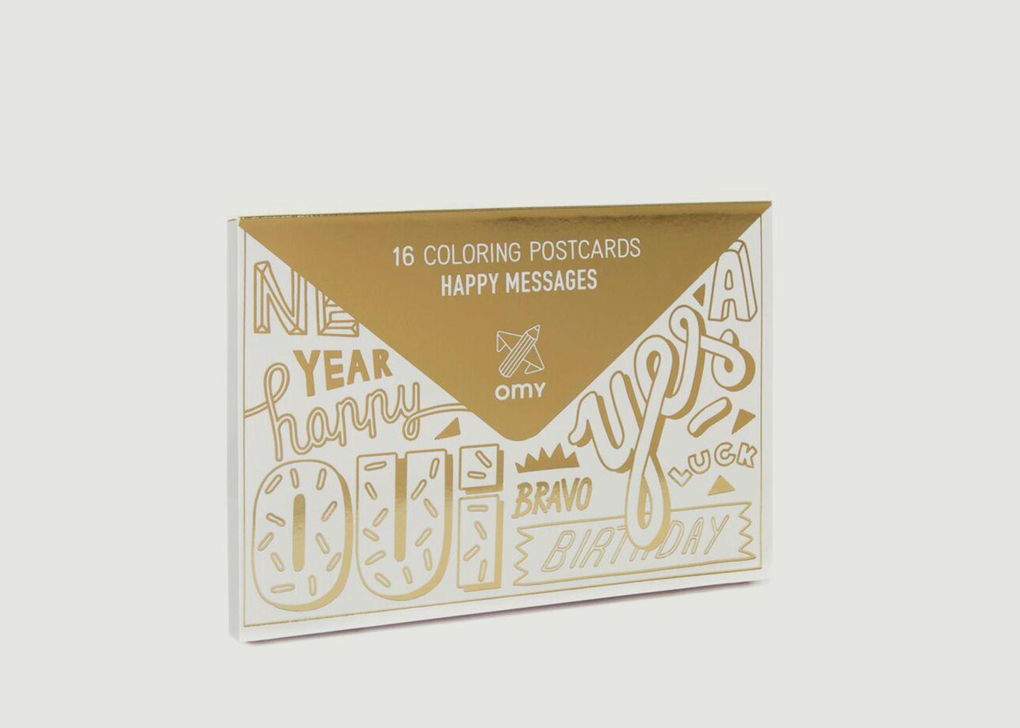 16 Cartes Postales à Colorier - Omy
