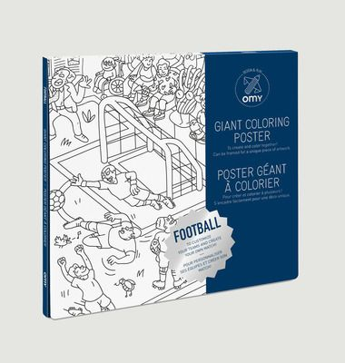 Football Colouring Poster