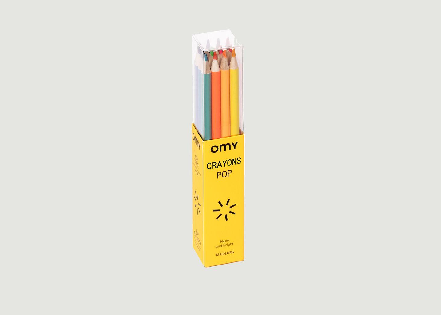 12 Crayons de Couleur Pop - Omy