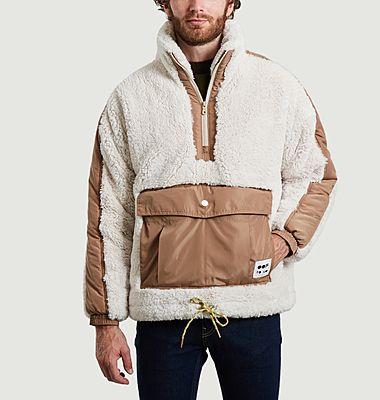 Sweatshirt 5018 oversize en fausse fourrure blanc