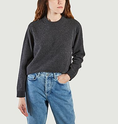 Pull tricoté en laine recyclée