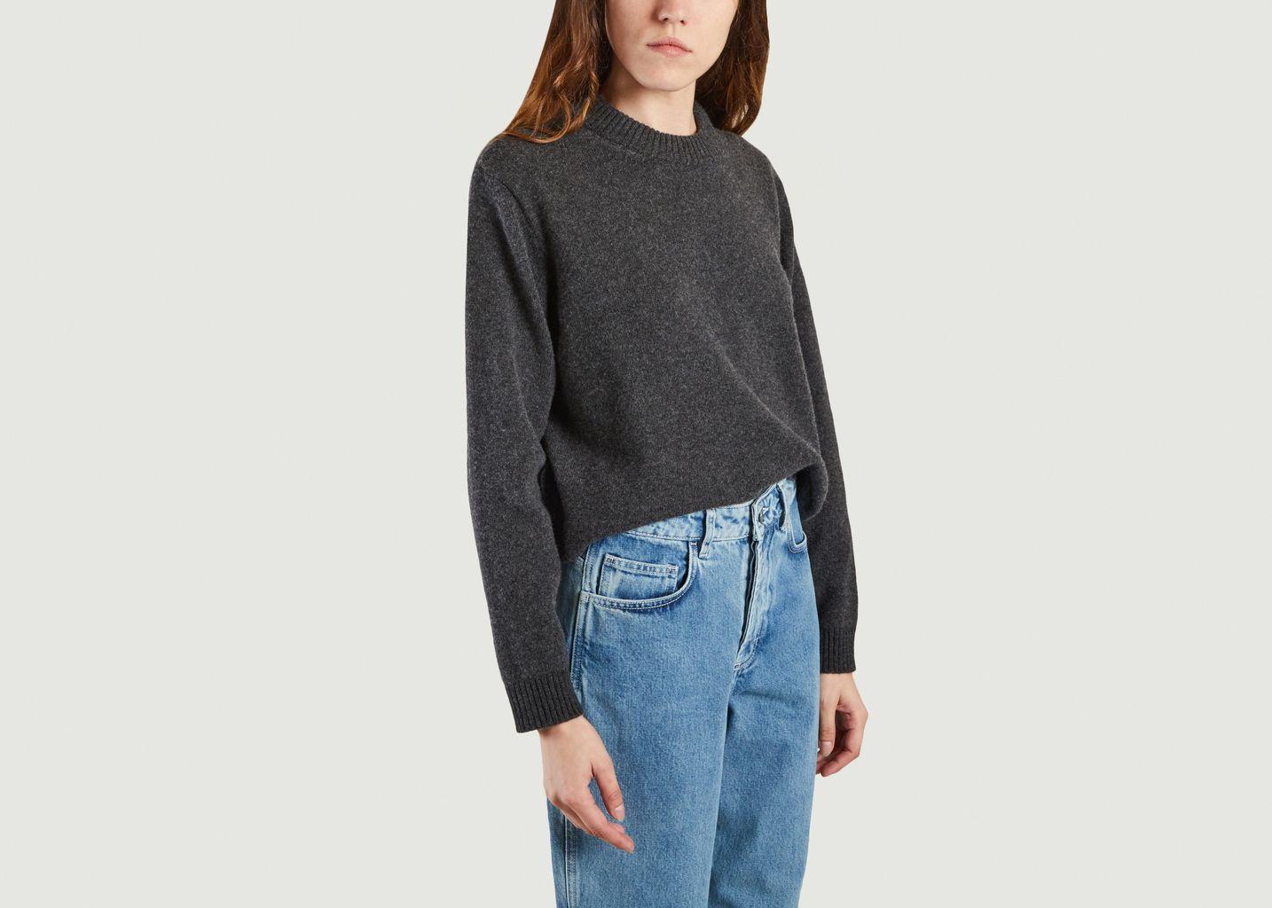 Pull tricoté en laine recyclée - Organic Basics