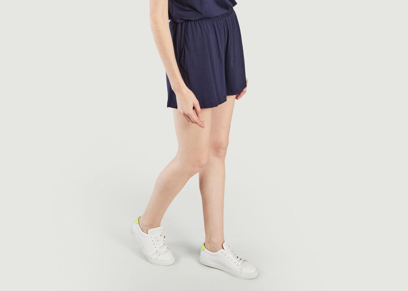 Short Tencel Bleu Marine - Organic Basics
