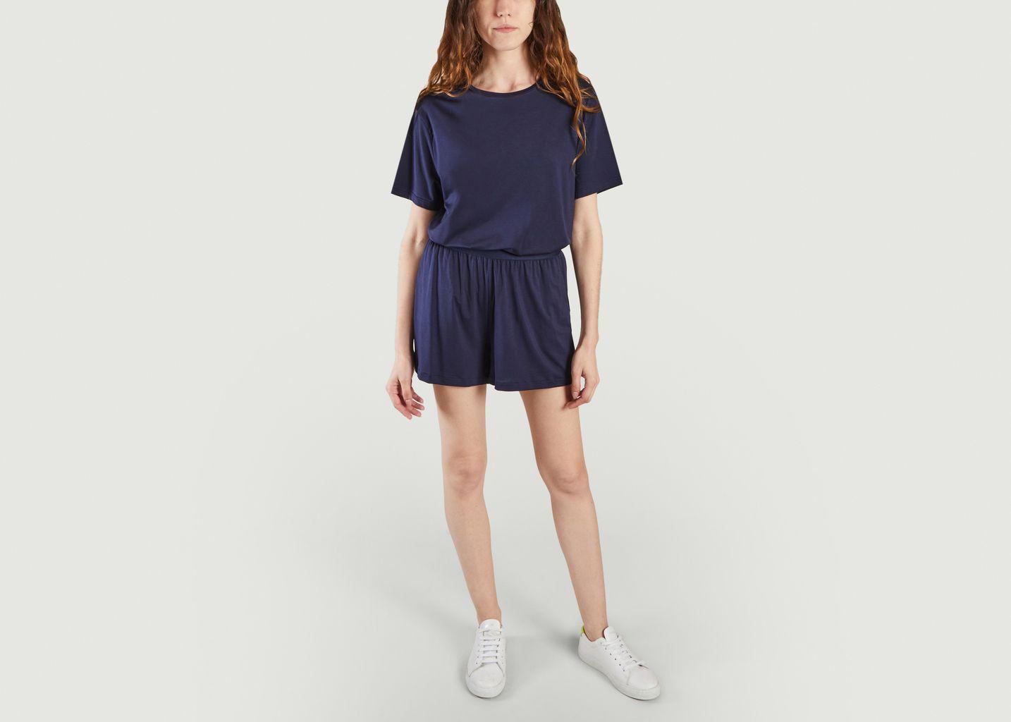 Robe t-shirt bleue légère en tencel - Organic Basics