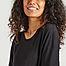 matière Robe t-shirt noire légère en tencel - Organic Basics