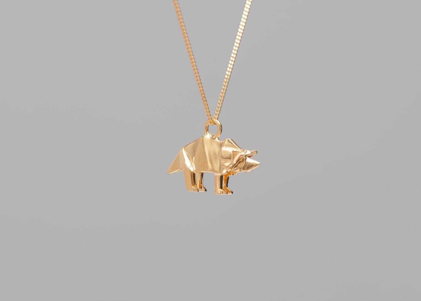 Collier Mini Triceratop - Origami Jewellery