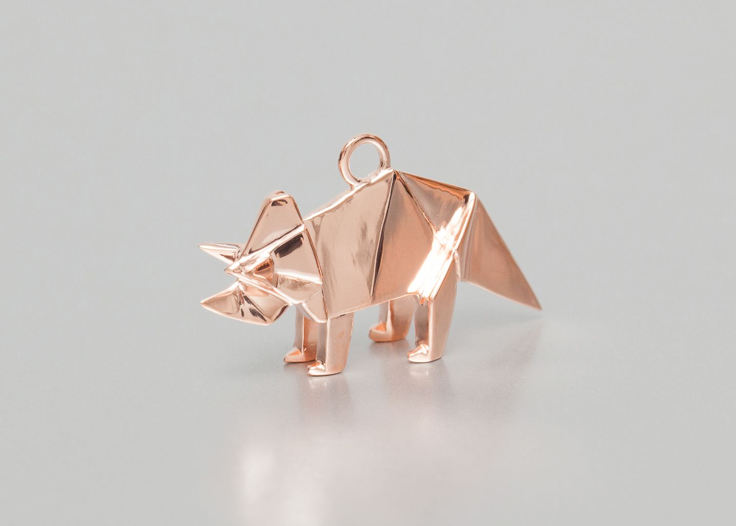 Sautoir Rhinocéros Origami - Origami Jewellery