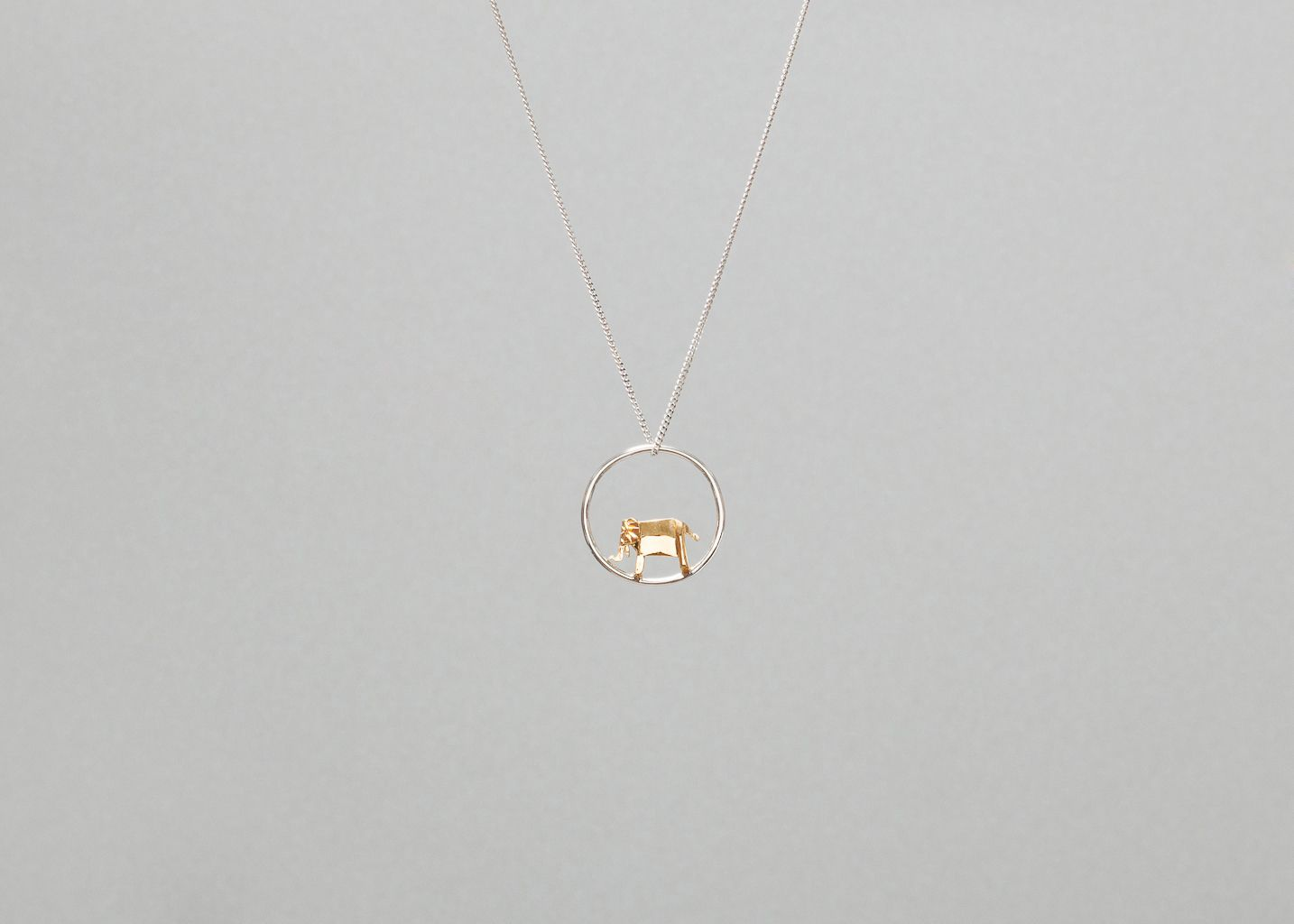 Collier Cercle Eléphant Origami - Origami Jewellery