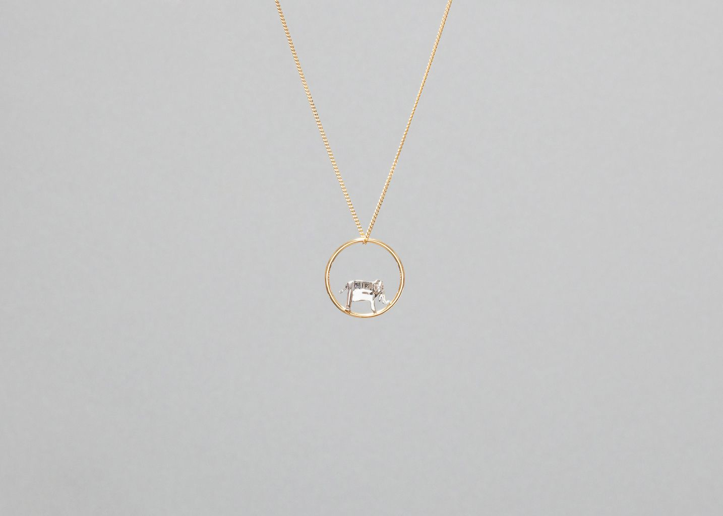 Collier Cercle Elephant Origami - Origami Jewellery
