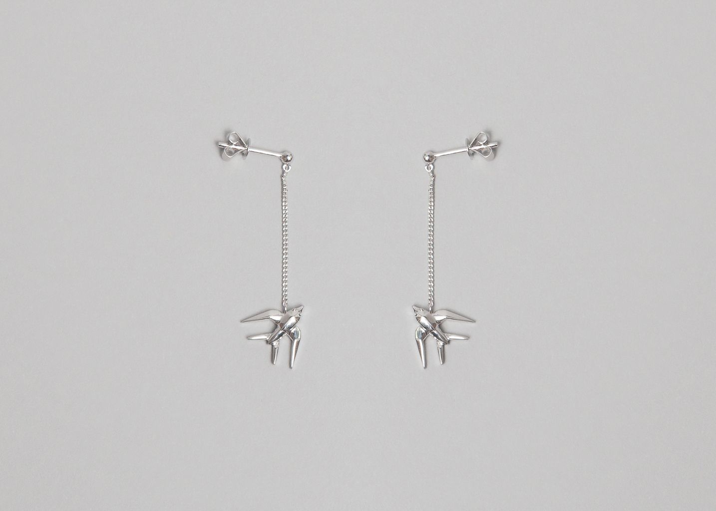 Boucles d'Oreilles Hirondelle Origami - Origami Jewellery