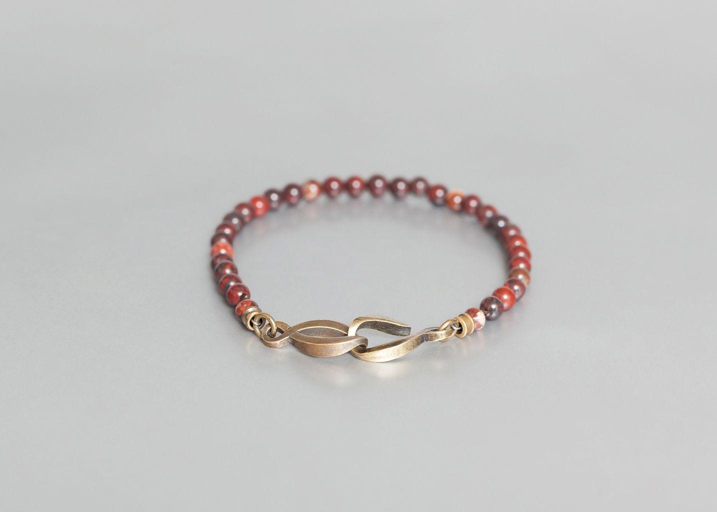 Bracelet Jaspe Terre de Sienne - Orner