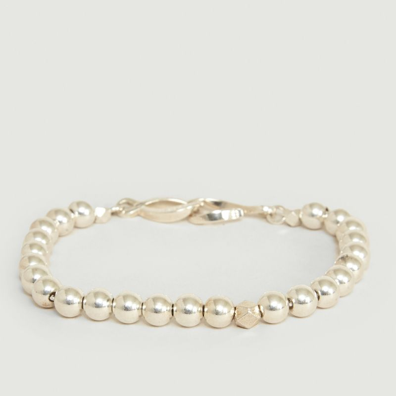 Bracelet Perles Argent 925 et Fermoir Infini - Orner