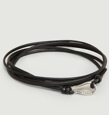 Bracelet Cordon Cuir Fin et Crochet