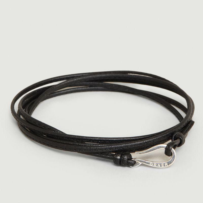 Bracelet Cordon Cuir Fin et Crochet - Orner