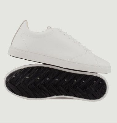 Sneakers Gravière en cuir recyclé
