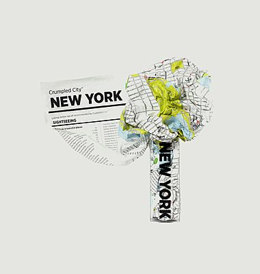 New York City crumpled city map