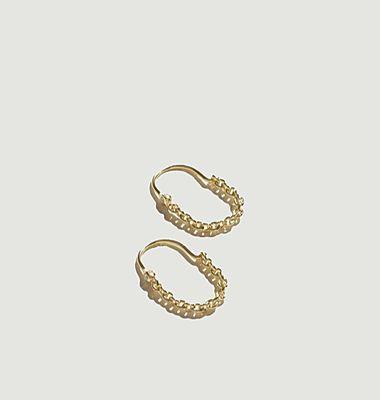 Boucles d'oreilles pendantes laiton plaqué or Suspension