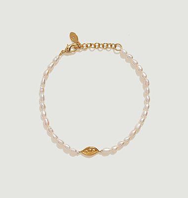 Bracelet perles et charm œil