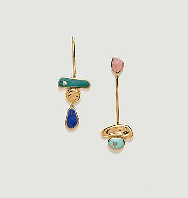 Boucles d'oreilles Pendulum