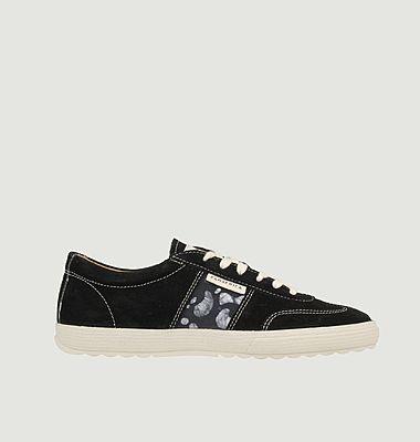 Sneakers en cuir velours Harmattan Ebène