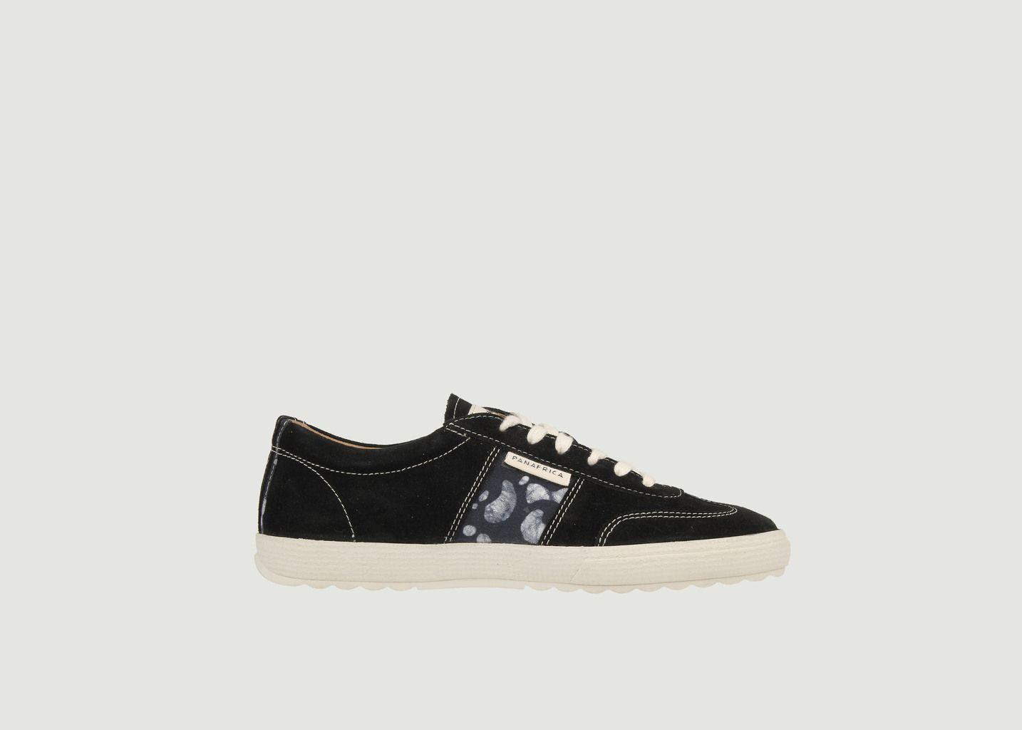 Sneakers en cuir velours Harmattan Ebène - Panafrica