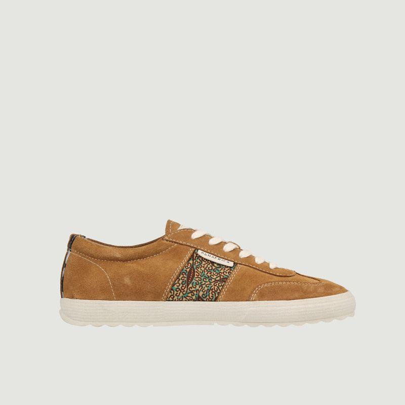 Sneakers en cuir velours Harmattan - Panafrica